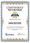 Certyfikat All-Pit Biuro Rachunkowo Księgowe Alfreda Dołęga