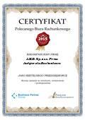 Certyfikat A.M.D. Sp. z o.o. Firma Audytorsko-Rachunkowa