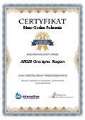 Certyfikat ANGIS Grażyna Ragan