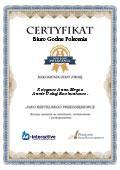 Certyfikat Anmir Usługi Rachunkowo – Księgowe Anna Mirgos