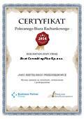 Certyfikat Best Consulting Plus Sp. z o.o.