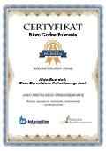 Certyfikat Biuro Doradztwa Podatkowego AVAL Alicja Rusiniak