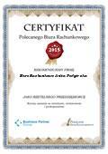 Certyfikat Biuro Rachunkowe Anita Podgórska