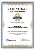 Certyfikat Biuro Rachunkowe Duet II Teresa Denkiewicz