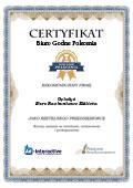 Certyfikat Biuro Rachunkowe Elżbieta Gębołyś