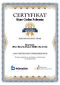 Certyfikat Biuro Rachunkowe GABI – Gabriela Ćwiękała