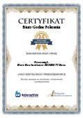 Certyfikat Biuro Rachunkowe HONESTY Ewa Krawczyk
