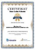 Certyfikat Biuro Rachunkowe LIDER Izabella Machowska