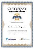 Certyfikat Biuro Rachunkowe Małgorzata Jasicka