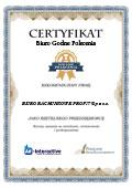 Certyfikat Biuro Rachunkowe Profit Sp. z o.o.