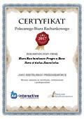 Certyfikat Biuro Rachunkowe Progres Ewa Kurasińska-Kowalska
