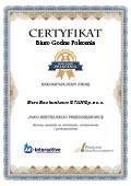 Certyfikat Biuro Rachunkowe STAN Sp. z o. o.