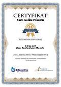 Certyfikat Biuro Rachunkowe Wanda Chrząścik