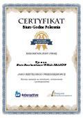 Certyfikat Biuro Rachunkowe Wisła Kraków Sp. z o.o.