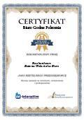 Certyfikat Mgr Inż. Bożena Wolańska Biuro Rachunkowe