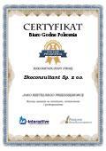 Certyfikat Ekoconsultant Sp. z o.o.