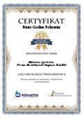Certyfikat Saldo Firma Handlowo-Usługowa Elżbieta Lipińska