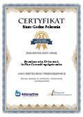 Certyfikat In Plus Consulting Agnieszka Roszkowska Urbaniak