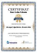 Certyfikat Jawpol Apolonia Jaworska