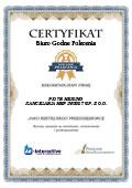 Certyfikat Kancelaria HMP Invest Sp. z o.o. Spółka Komandytowa