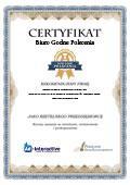 Certyfikat Kancelaria Podatkowa Biuro Rachunkowe Doradca Podatkowy Małgorzata Czemarmazowicz