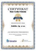 Certyfikat RAXELL Sp. z o.o.