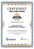 Certyfikat Usługi Finansowo – Księgowe Andrzej Namiotko