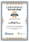Certyfikat Usługi Księgowe – Hanna Dąbrowska