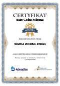 Certyfikat WANDA BOMBA PIMAG